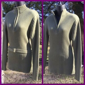 Vtg Mock Turtleneck Sweater, sz L